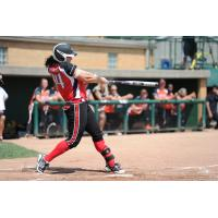 Charlotte Morgan at Bat for the Akron Racers