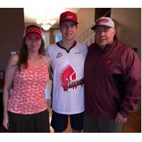Moose Jaw Warriors Signee Jakin Smallwood and Parents