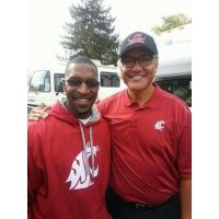 Calvin Schexnayder with former NFL and WSU QB Jack Thompson