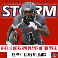 Sioux Falls Storm RB/WR Korey Williams