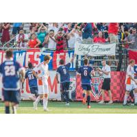 Indy Eleven Celebrate with Fans