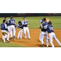 Arkansas Travelers Celebrate Walk-Off Win