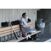 Tim Lincecum in the Salt Lake Bees Dugout