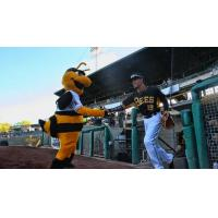 Rafael Ortega and Bumble of the Salt Lake Bees