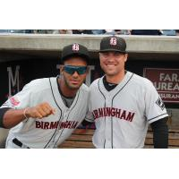 Birmingham Barons All-Stars Eudy Pina (left) and Jake Peter (right)