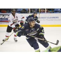Jake Slaker with the Bloomington Thunder
