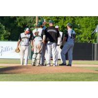 Green Bay Bullfrogs Meet on the Mound