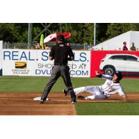 Trea Turner of the Syracuse Chiefs Slides into Second with a Double