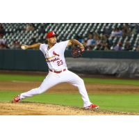 Memphis Redbirds Pitcher Sam Tuivailala Delivers