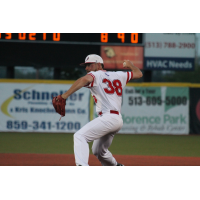 Florence Freedom Pitcher Matt Pobereyko Prepares to Throw