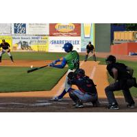 Anderson Miller of the Lexington Legends Connects for a Home Run