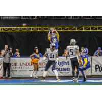 Storm DB Cameron McGlenn reeling in his second interception of the season
