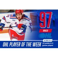 Jeremy Bracco Named OHL Player of the Week for October 10-16