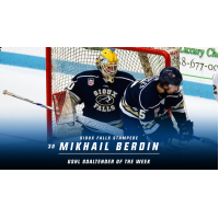 Berdin Named USHL Goaltender of the Week