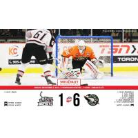 Strong Beast Offensive Play Stymied by Goaltending in 6-1 Loss to Mallards