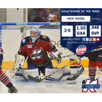 Nick Riopel Named CCM/ECHL Goaltender of the Week
