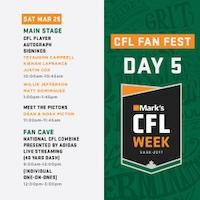 #markscflweek Preview: Saturday, March 25th