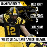 IFL Week 15 Players of the Week Honored