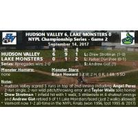 NYPL Finals Game 2: Hudson Valley 6, Vermont 0 (Renegades Win Series 2-0)