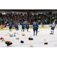 Steelheads Announce Donations from Teddy Bear Toss for Tots