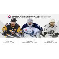 Amadio, Sprong, Hutchinson Named CCM/AHL Award Winners for December