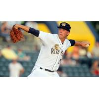 LHP Evan Rutckyj with the Charleston RiverDogs