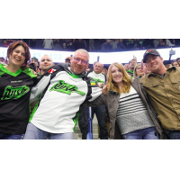 Saskatchewan Rush Participate in Group Hug