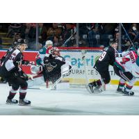 Vancouver Giants Goaltender David Tendeck vs. the Kelowna Rockets