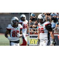 Ottawa RedBlacks Receiver Diontae Spencer and Offensive Lineman Nolan MacMillan