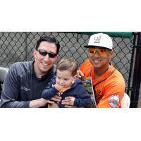 Angelo Songco of the Long Island Ducks with Host Family