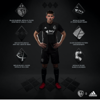 Sporting KC's New Black Secondary Jersey