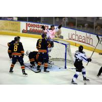 Justin Parizek of the Idaho Steelheads Celebrates a Goal