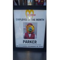 McDowell's Employee of the Month Sign