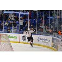 Ty Ronning of the Vancouver Giants in Front of the Crowd