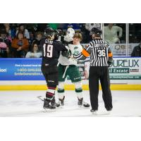 Vancouver Giants and Everett Silvertips Fight