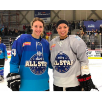 NWHL All-Stars Hayley Scamurra and Kelsey Koelzer