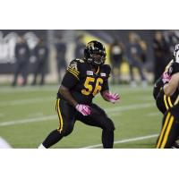 Offensive Lineman Jeremy Lewis with the Hamilton Tiger-Cats
