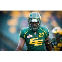Defensive Back Mike Dubuisson with the Edmonton Eskimos