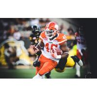 BC Lions Fullback Rolly Lumbala in Action