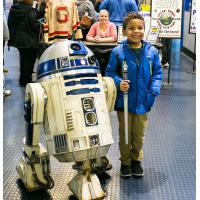 A young Grand Rapids Griffins Fan and R2-D2
