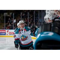 Kelowna Rockets celebrate with the bench