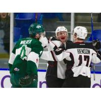Vancouver Giants celebrate vs. the Everett Silvertips