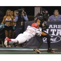 The Arizona Rattlers score against the Sioux Falls Storm