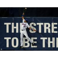 Outfielder Endy Chavez with the New York Mets