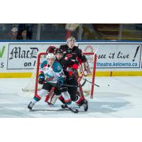 Kelowna Rockets Center Kyle Topping vs. the Prince George Cougars