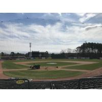 Current netting at TicketReturn.Com Field, home of the Myrtle Beach Pelicans