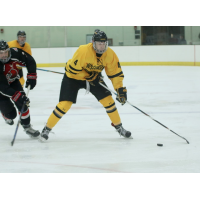 Forward Ian Ecklund with the University of Wisconsin-Superior