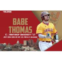 Catcher Babe Thomas with Winthrop University