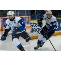 Saint John Sea Dogs Defenceman Bailey Webster and Forward Ostap Safin