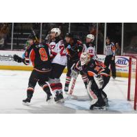 The Lehigh Valley Phantoms defense puts the clamps on the Binghamton Devils